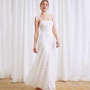 reformation • dandelion ivory lace wedding dress